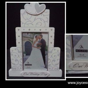 Our Wedding Day  Cake Picture Frame